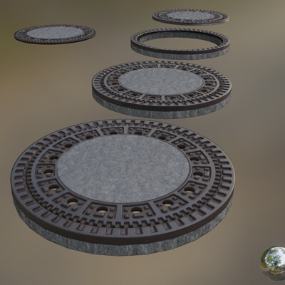 Dennis haupt 3dhaupt dennis haupt 3dhaupt 01 sewer cover 1 mid poly version modeled and pbr textured by 3dhaupt in blender 2 91 0 rendered with eevee 1