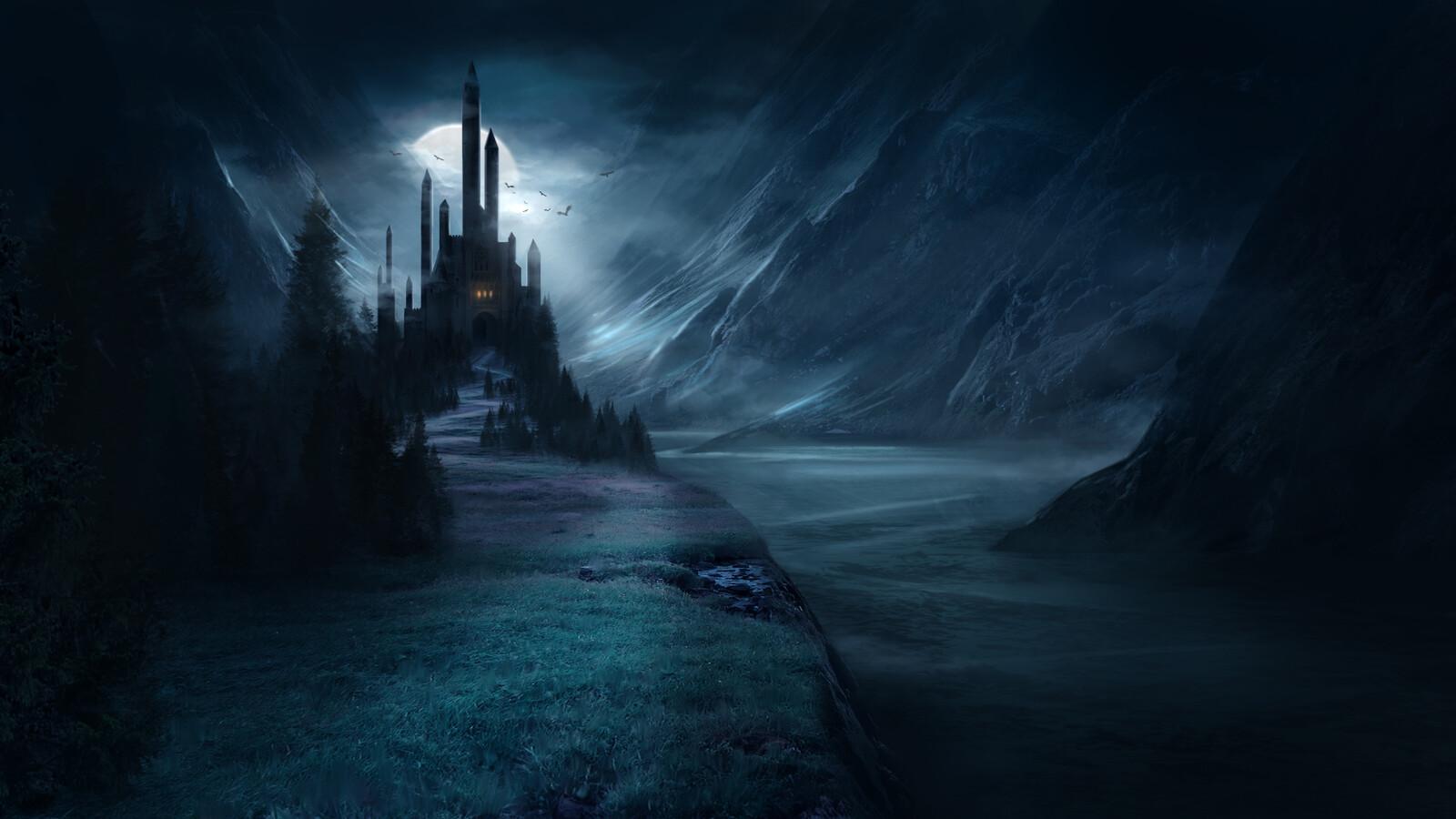 Dracula Environment Painting