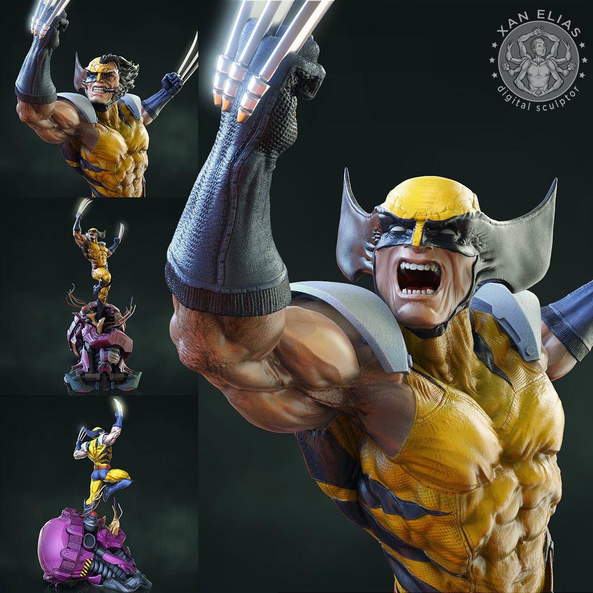 XMen Wolverine 1:4 collectible statue