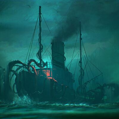 UE4 - H.P Lovecraft Doodles