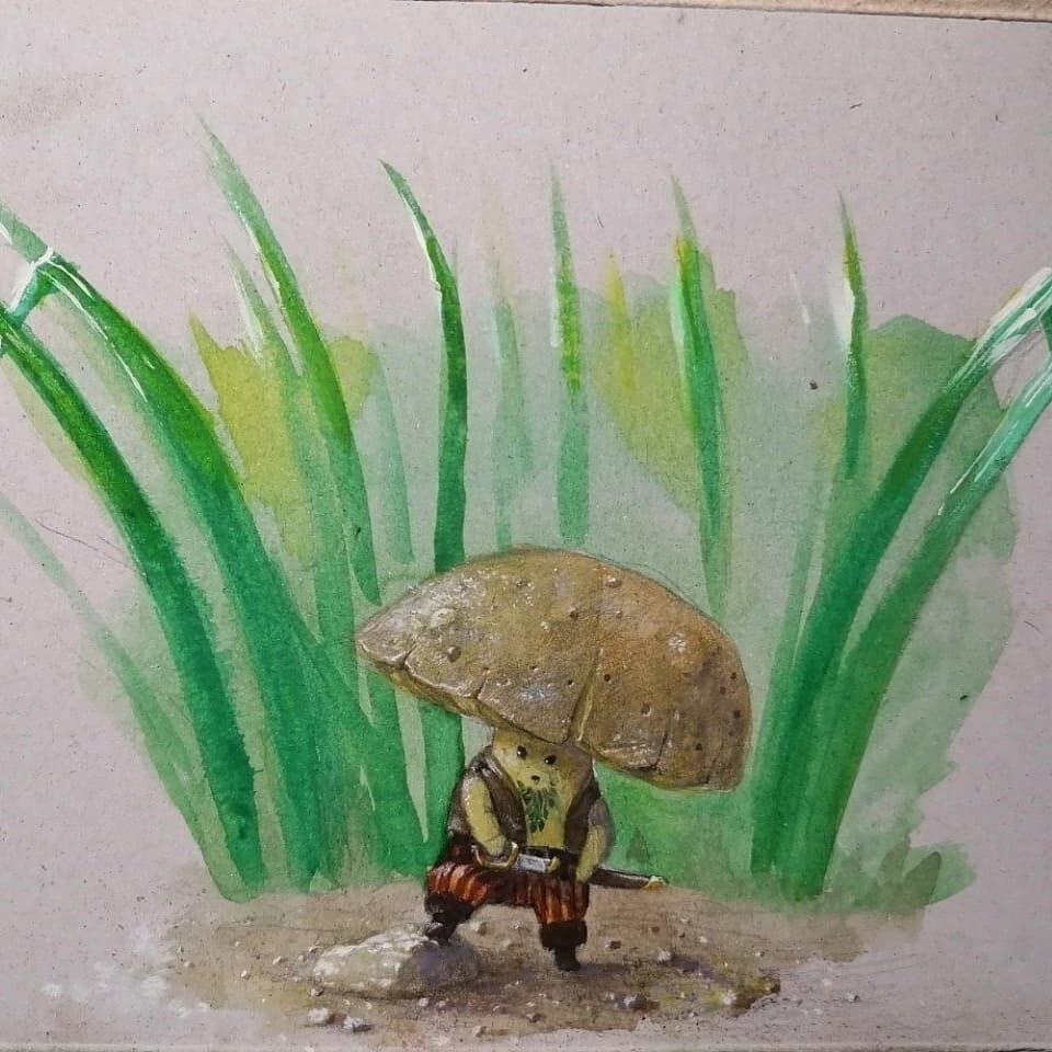 Little angry mushroom