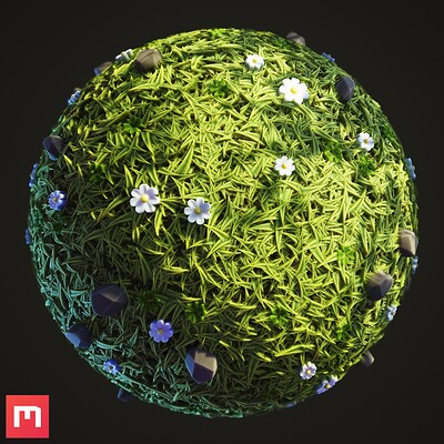 Stylized Grass. Procedural Material
