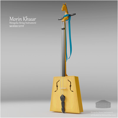 Michael klee michael klee morin khuur mongolia string instruments 3d model by michael klee