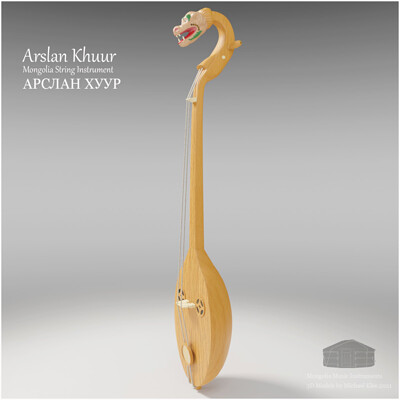 Michael klee michael klee arslan khuur mongolia string instruments 3d model by michael klee 5