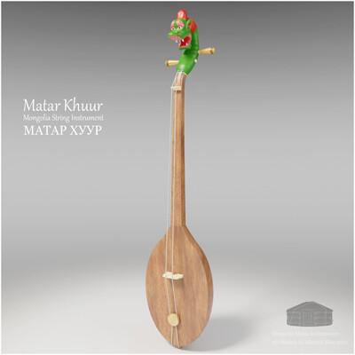 Michael klee michael klee matar khuur mongolia string instruments 3d model by michael klee