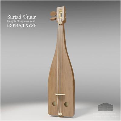 Michael klee michael klee burix khuur mongolia string instruments 3d model by michael klee 4