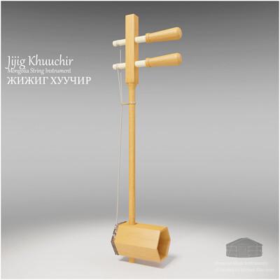 Michael klee michael klee jijig khuuchir mongolia string instruments 3d model by michael klee
