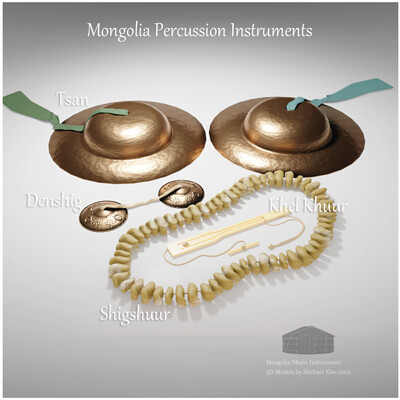 Michael klee michael klee tsan denshig shigshuur kheel khuur mongolia percussions 3d models by michael klee