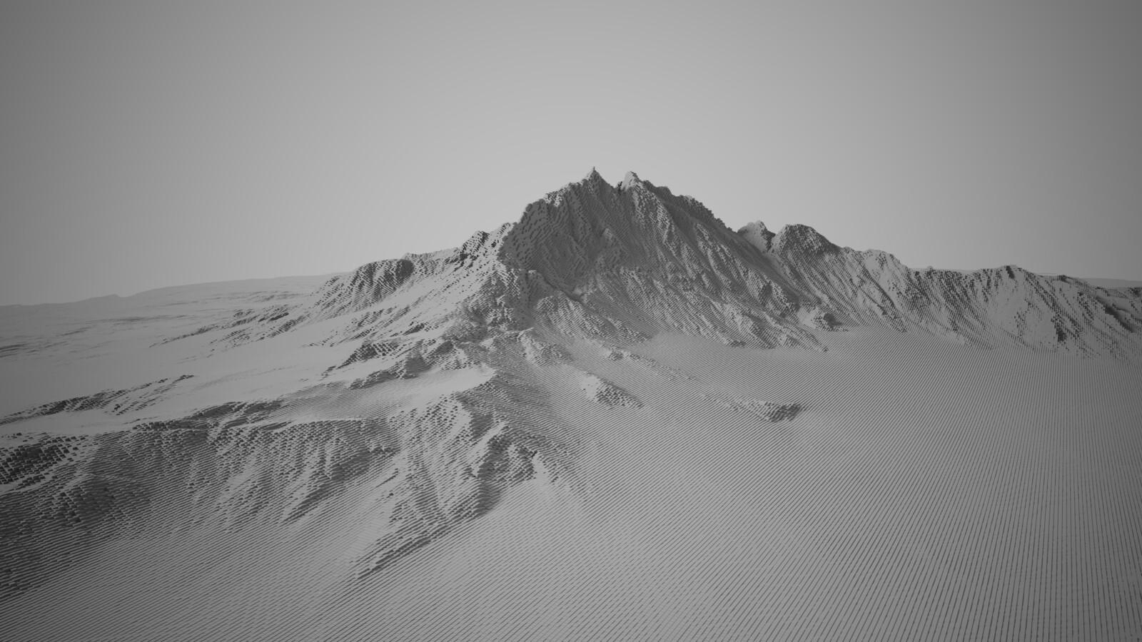 Voxelated Mountain