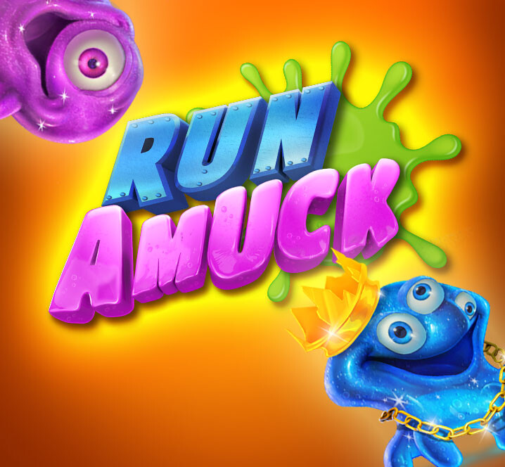 """Run Amuck"" characters and background art"