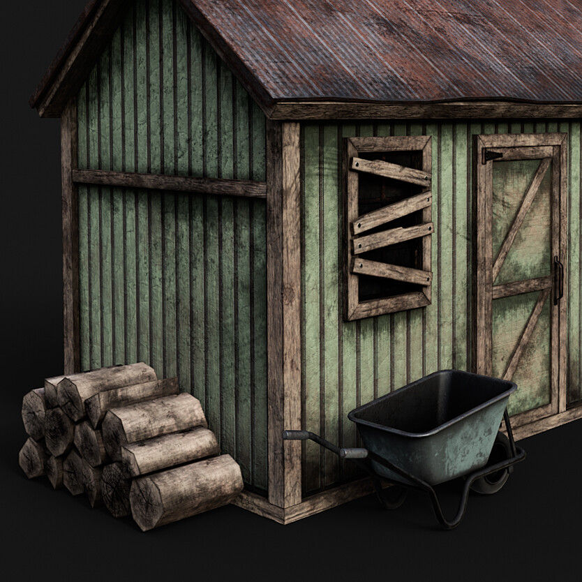 Abandoned Shed - Trim sheet environment project