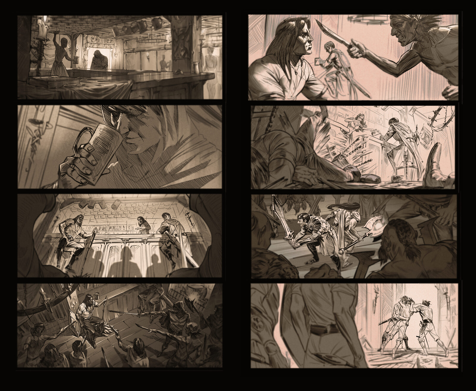 Storyboards/Layouts for various projects