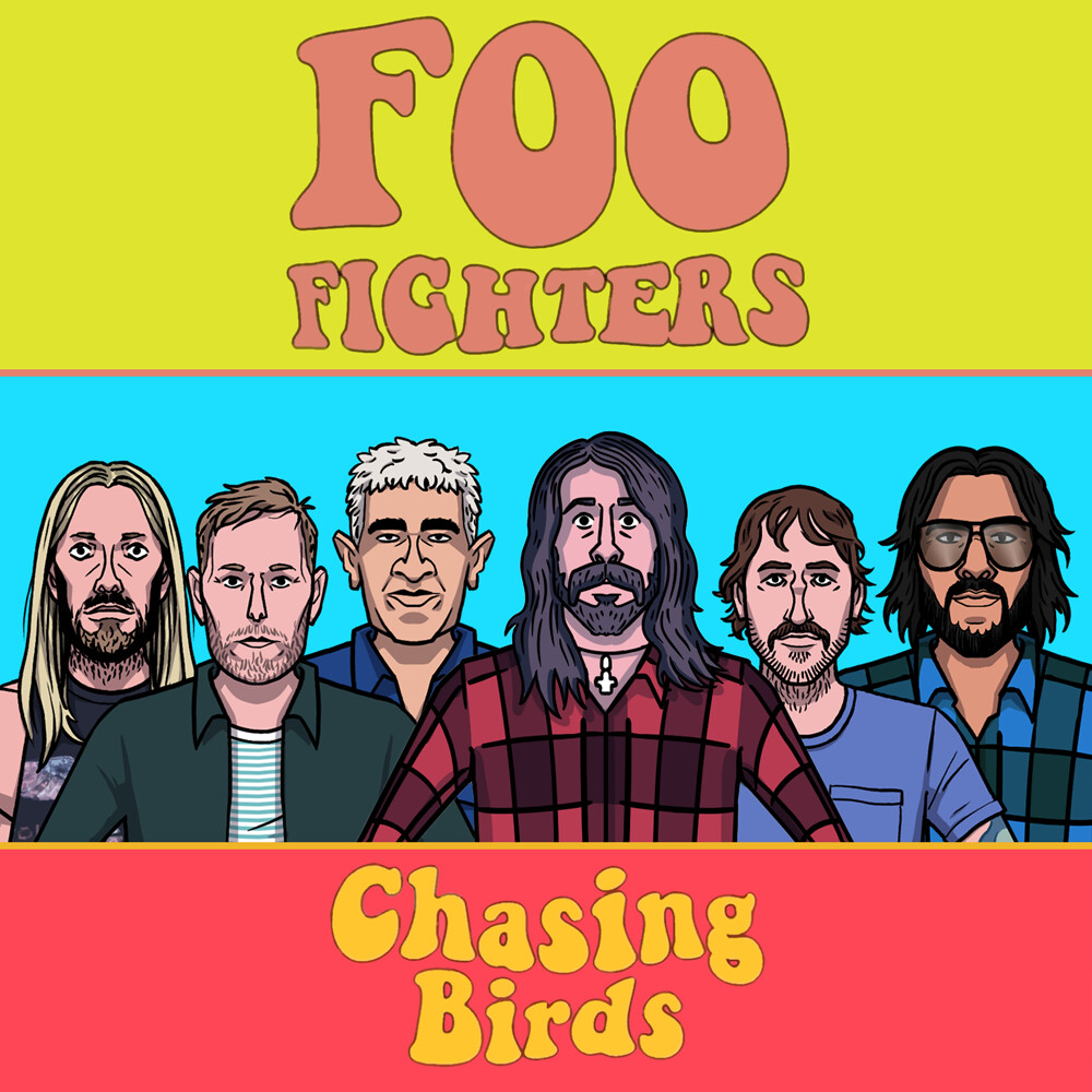 """Character designs for the Foo Fighters """"Chasing birds"""" video"""