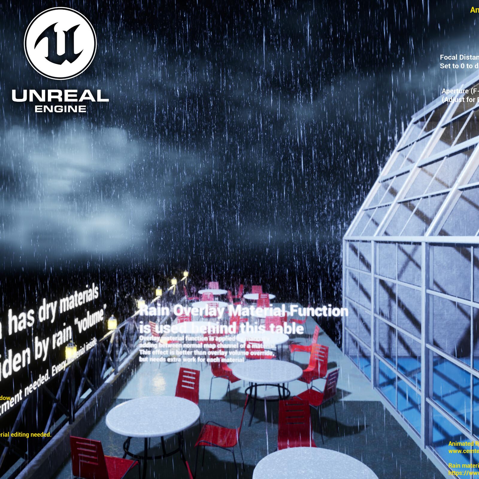 Animated Rain/Waterdrop Material - Unreal Engine Demo