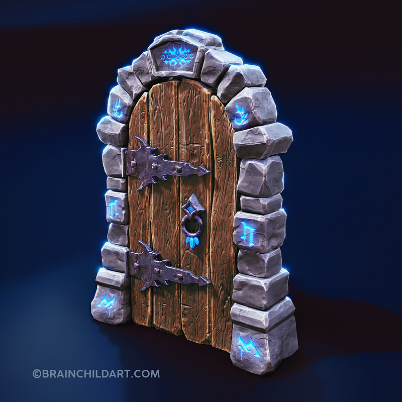 Dungeon DOOR | Modeling, Sculpting, Retopo, Unwrapping & Texturing  in Blender & Substance Painter