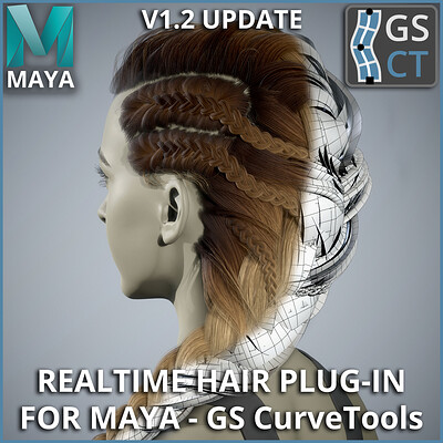 GS CurveTools v1.2 Update - Realtime Hair Plug-in for Maya - Demo
