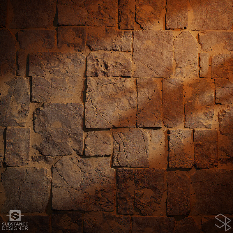 Rough Stone Tiles - Substance Designer
