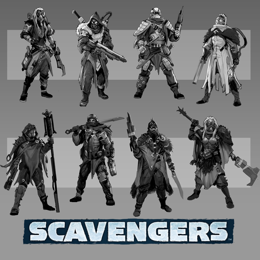 Scavengers - Outlanders, Characters and Bots