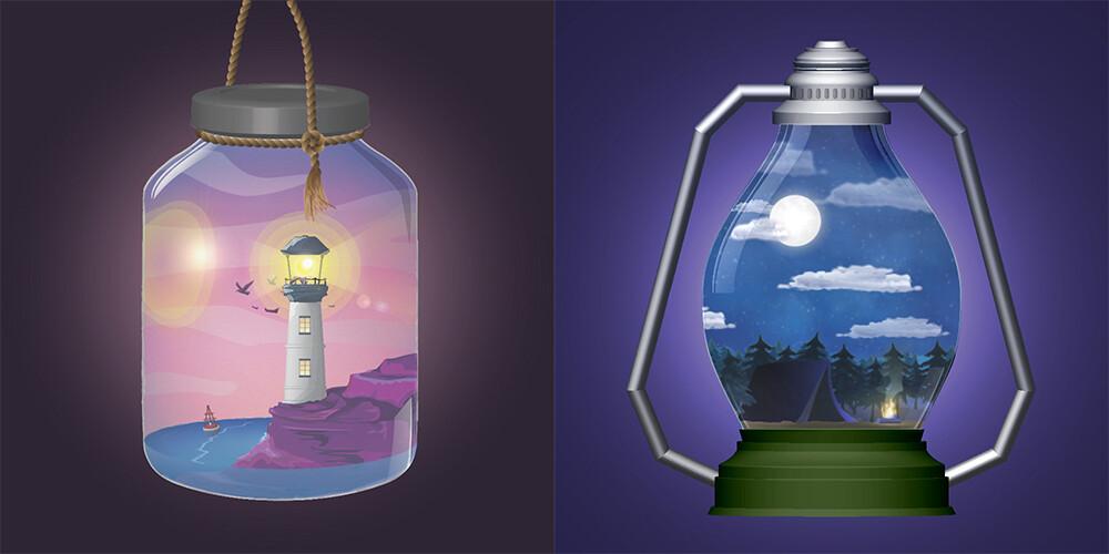 Illustrator Animated Scenes