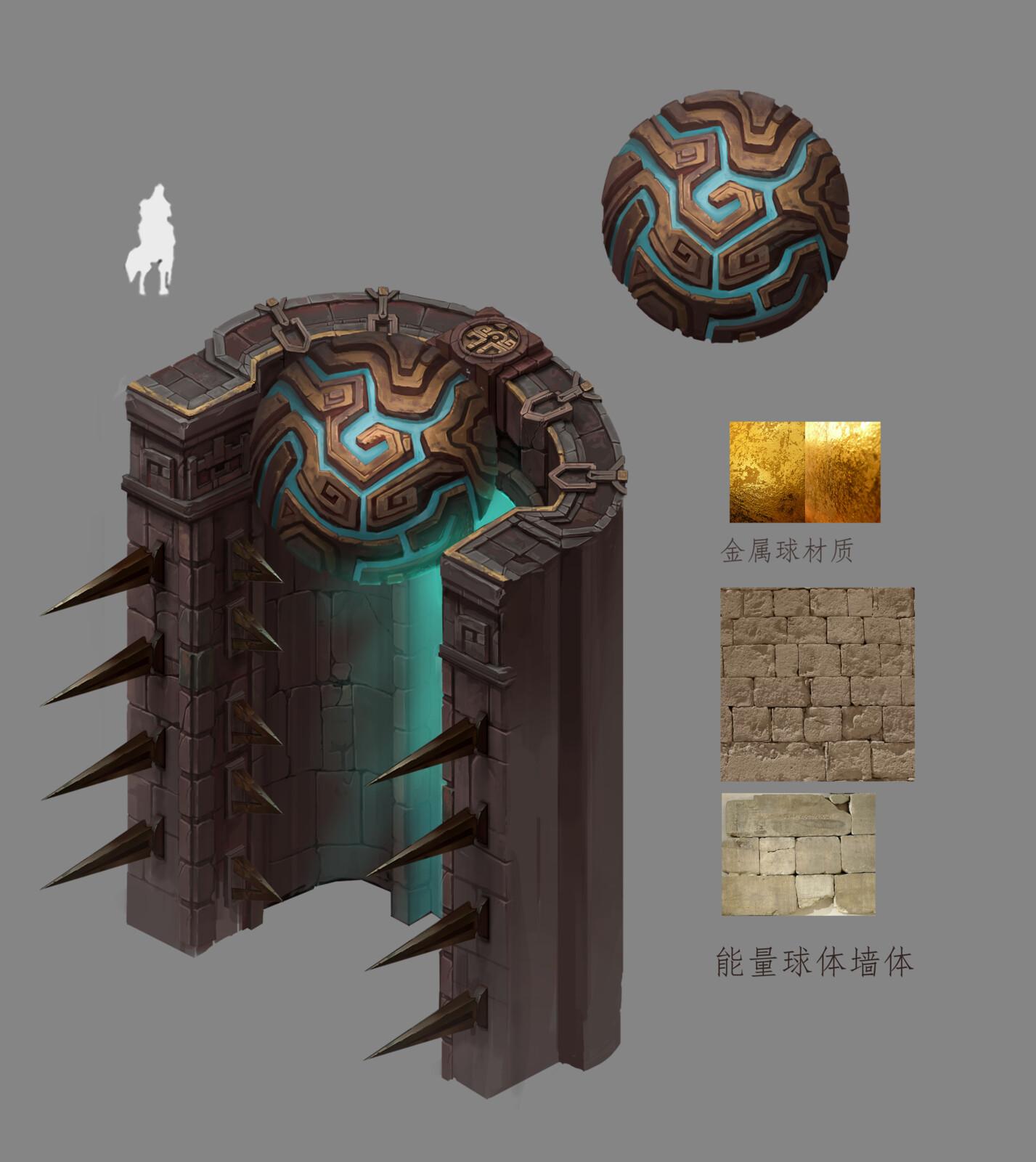 Fantasy RPG wall design