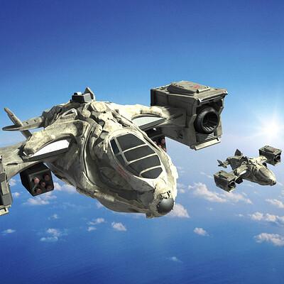 Renan assuncao renan assuncao dropship aircraft military concept zbrush 05