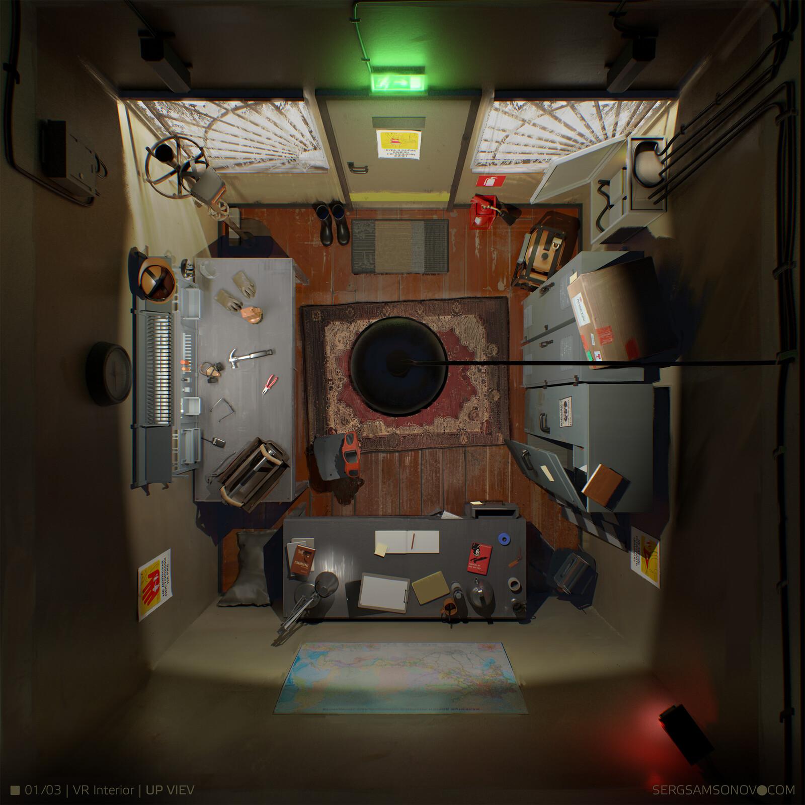 Concept environment interior for VR