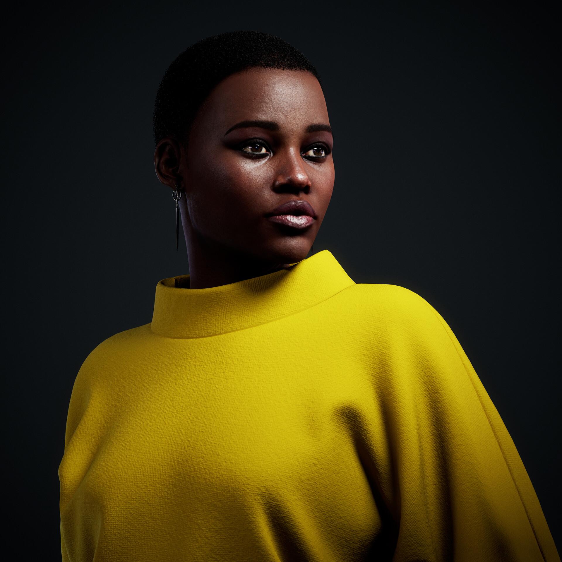 Lupita Nyong'o Likeness Study