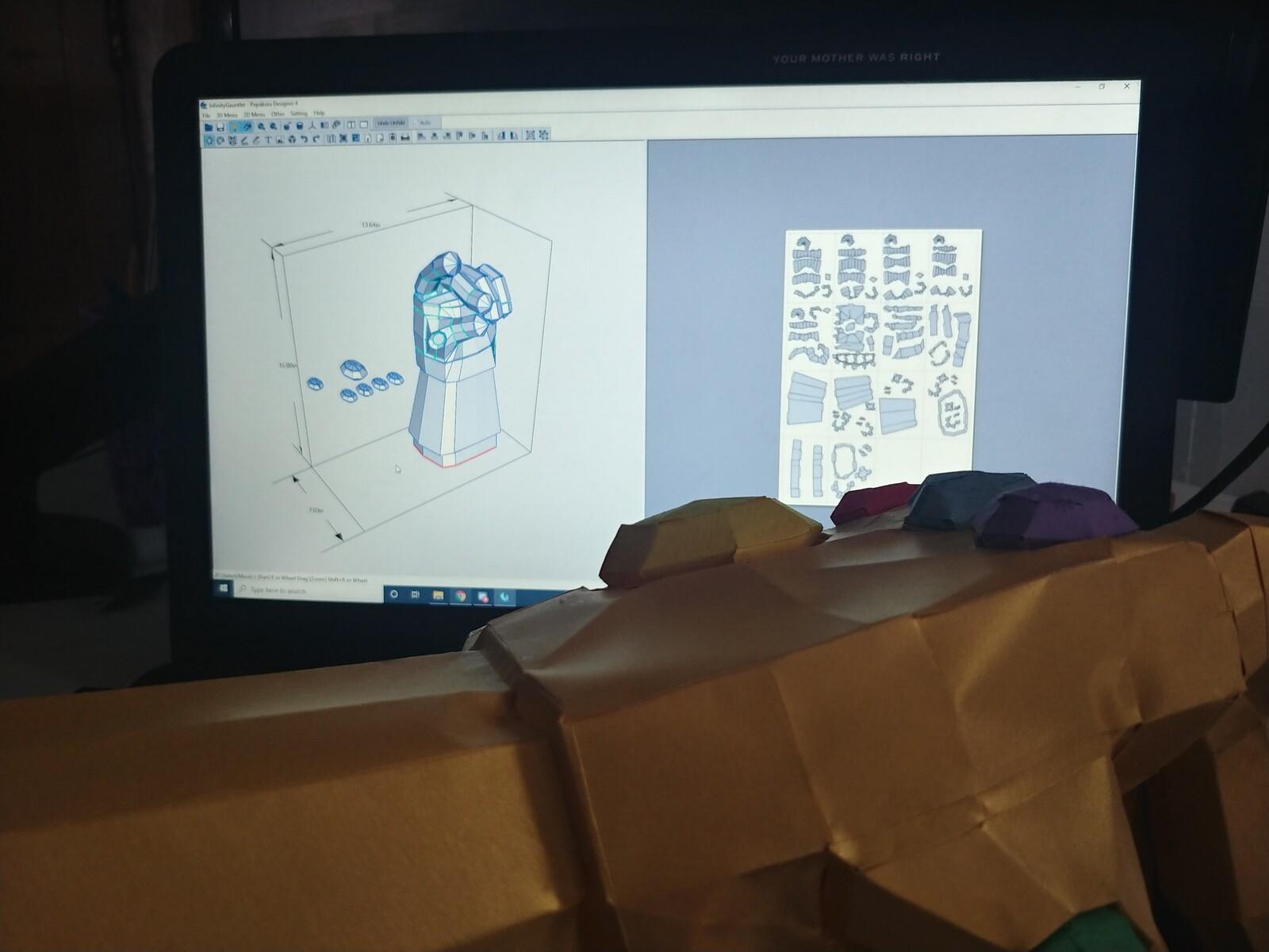 Infinity Gauntlet Paper Craft