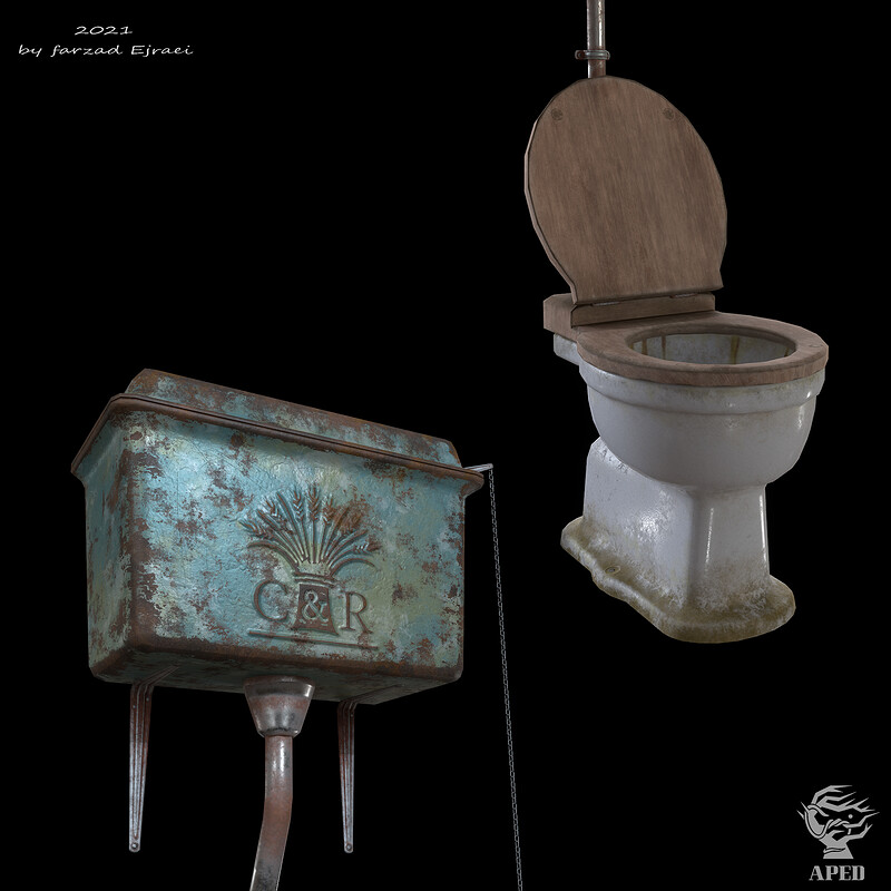 Toilet With High-level cistern
