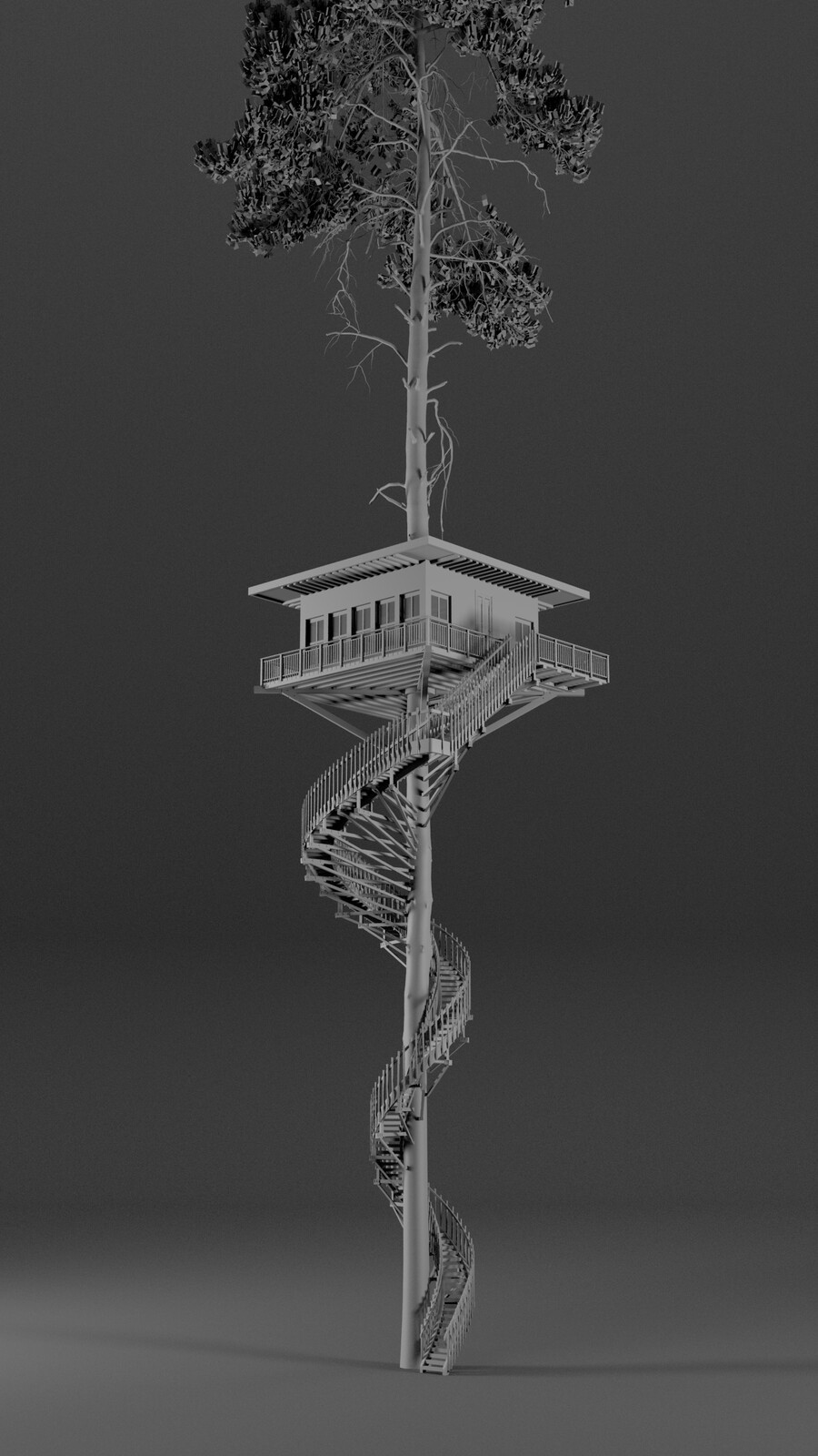 Procedural Tree House - Houdini Digital Asset