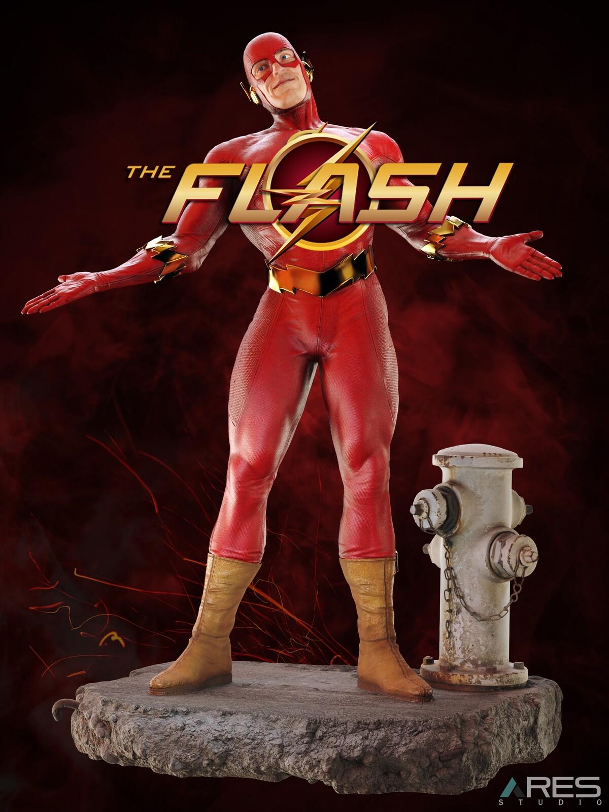 Flash (Barry Allen)  3D Modelling + Texturing - DC Superheroes (FAN Work)