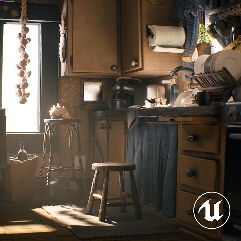 Pixar Kitchen | Real-time Ver.