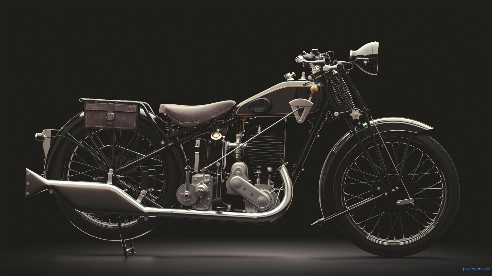Vintage motorcycle Ariel 550 SV