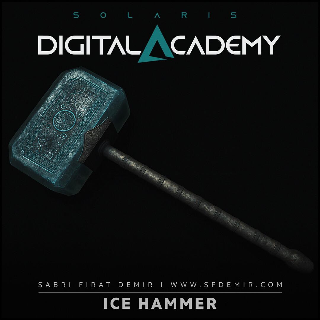 Ice Hammer 3D Model - PBR