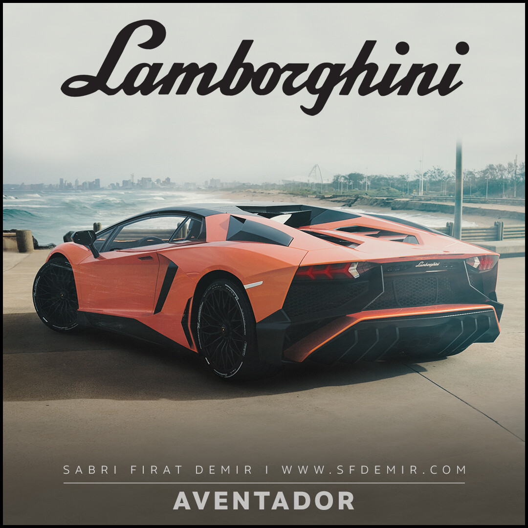 Lamborghini Aventador Orange Concept
