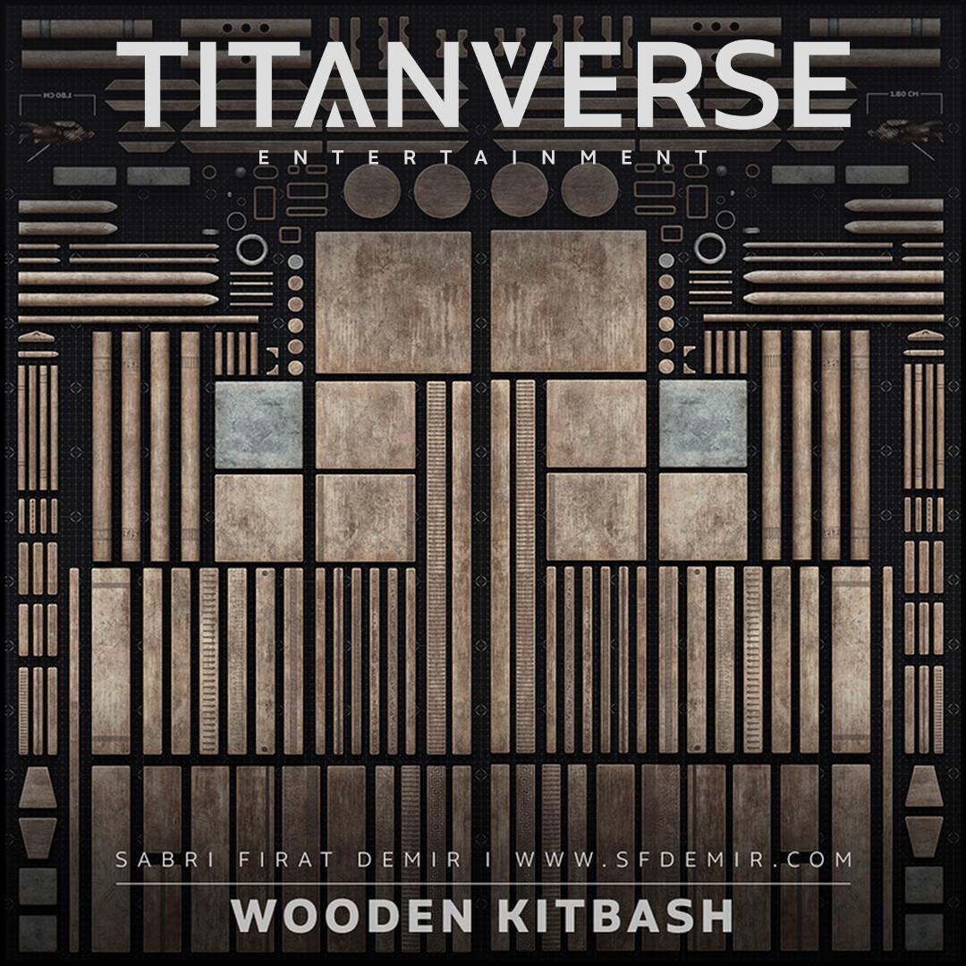 Wooden Kitbash - Low Polygon PBR