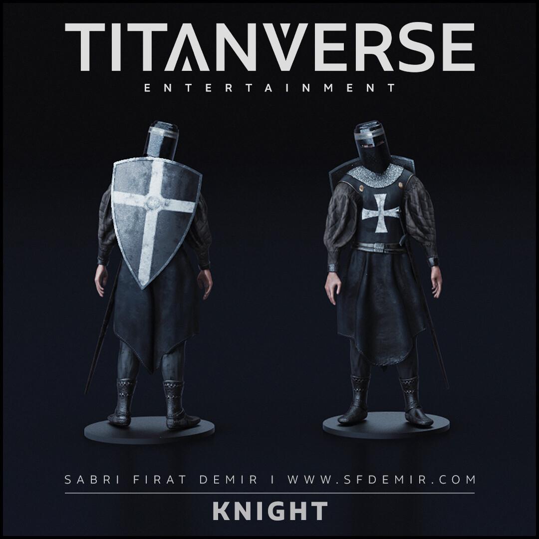 Knight Pose 01
