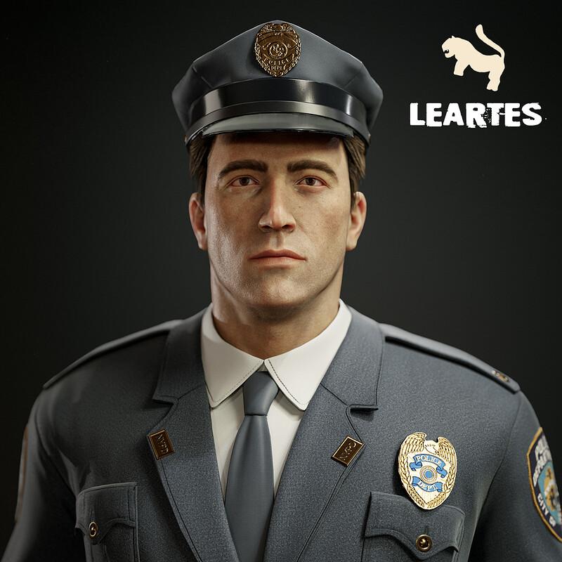 1950's Policeman Character