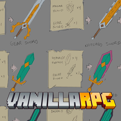 VanillaRPG Weapons & Armour Progression Design