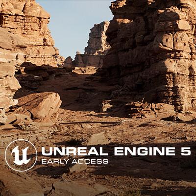 UE5 Early Access- Bridge Announcement Environment & Timelapse
