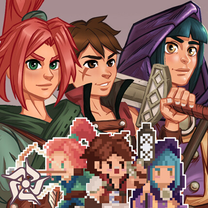 The 6th Faction Concept Art & Pixel Art Part 2 : Class 1