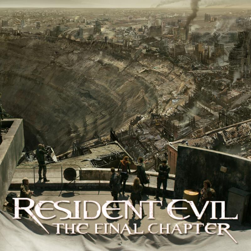 Concept art for shot in Resident Evil film