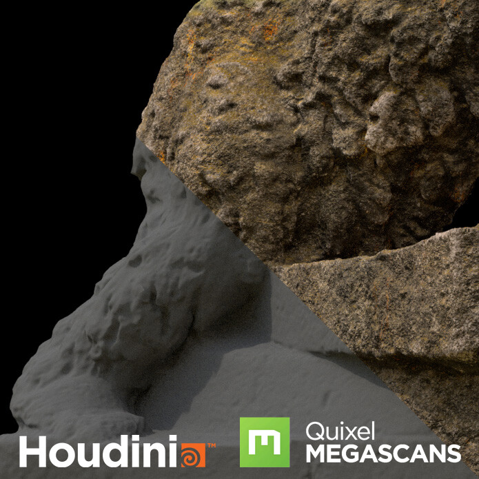 Houdini Procedural Stone Shader