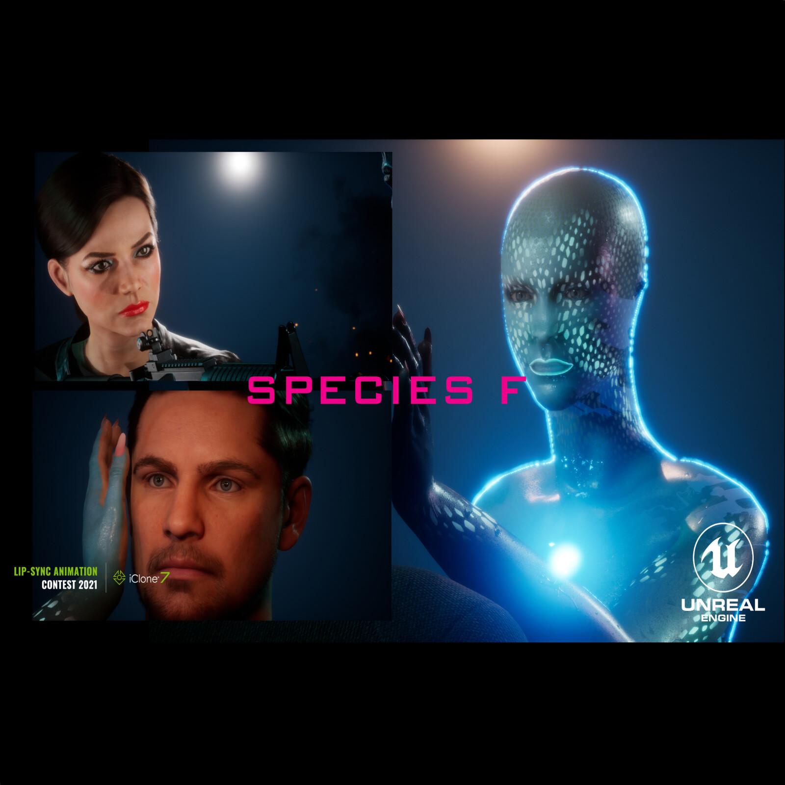 Species F - 2021 iClone Lip-Sync Animation Contest