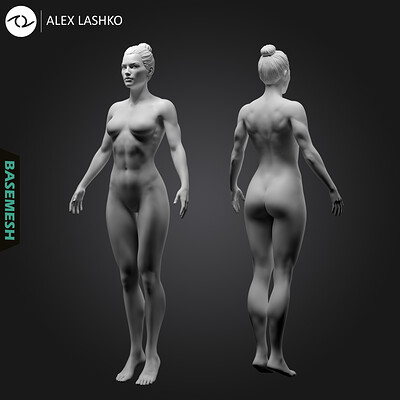 Alex lashko alex lashko superheroine basemesh by alexlashko v2