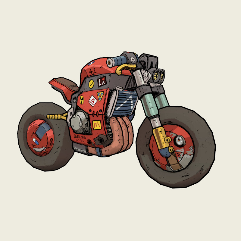Stylized Hand Painted Streetfighter Bike