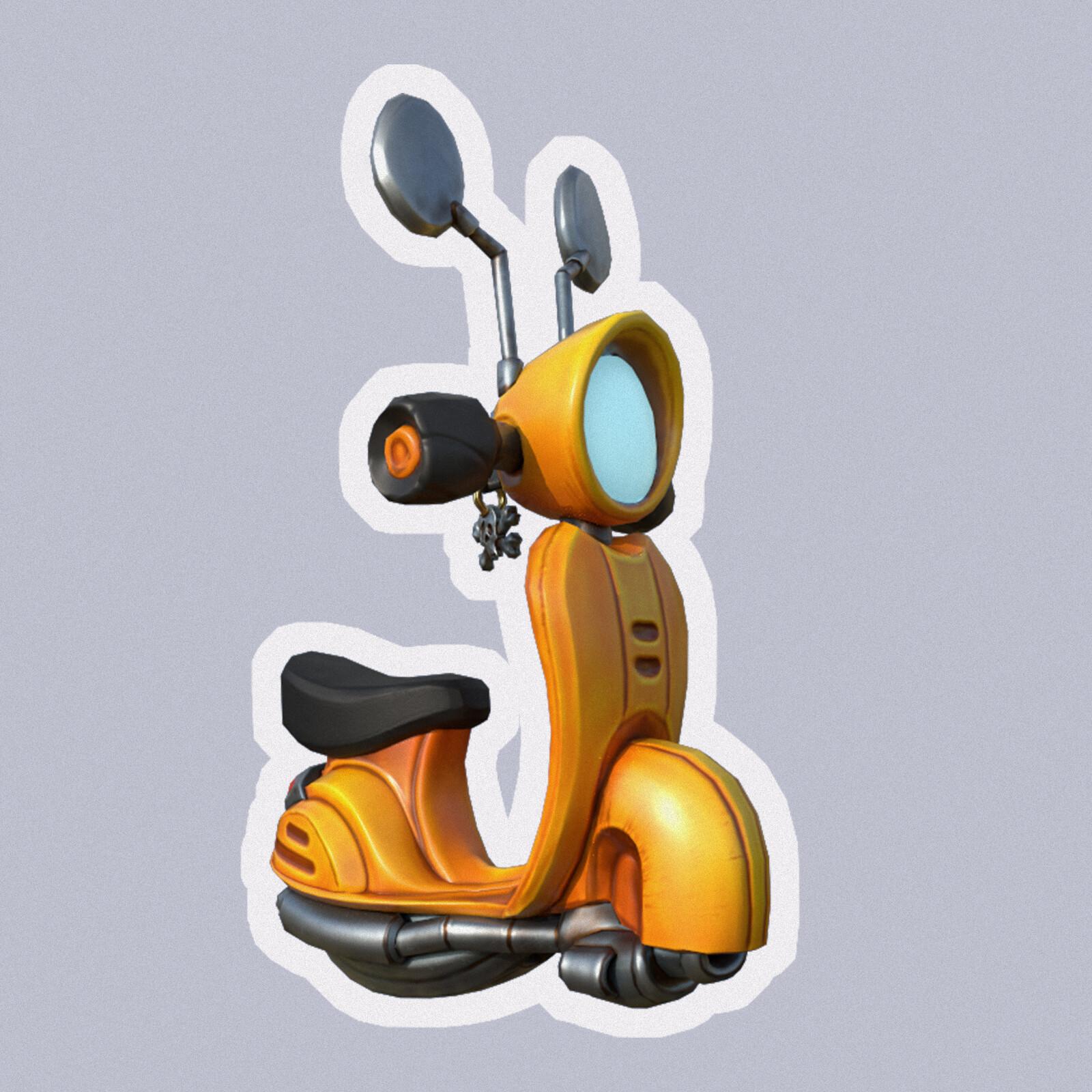 Stylized Moped
