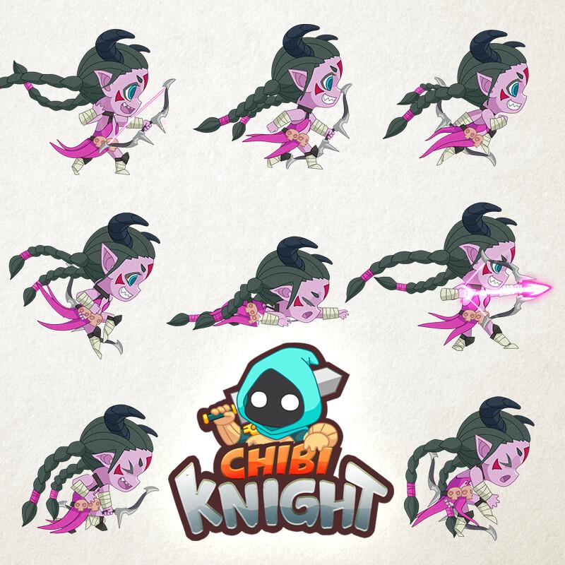CHIBI KNIGHT DESIRAE ANIMATION