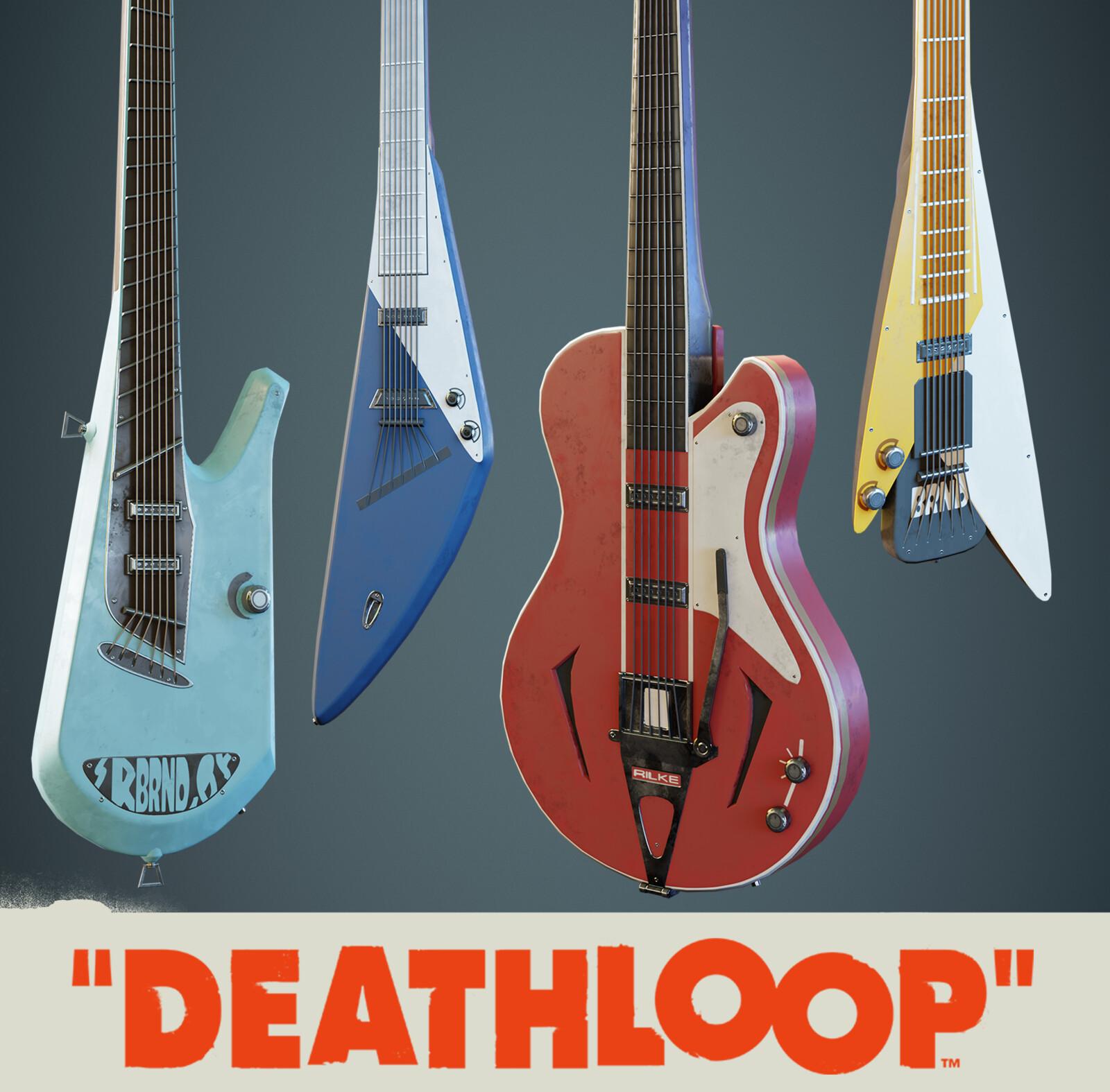 Guitars: Deathloop Props