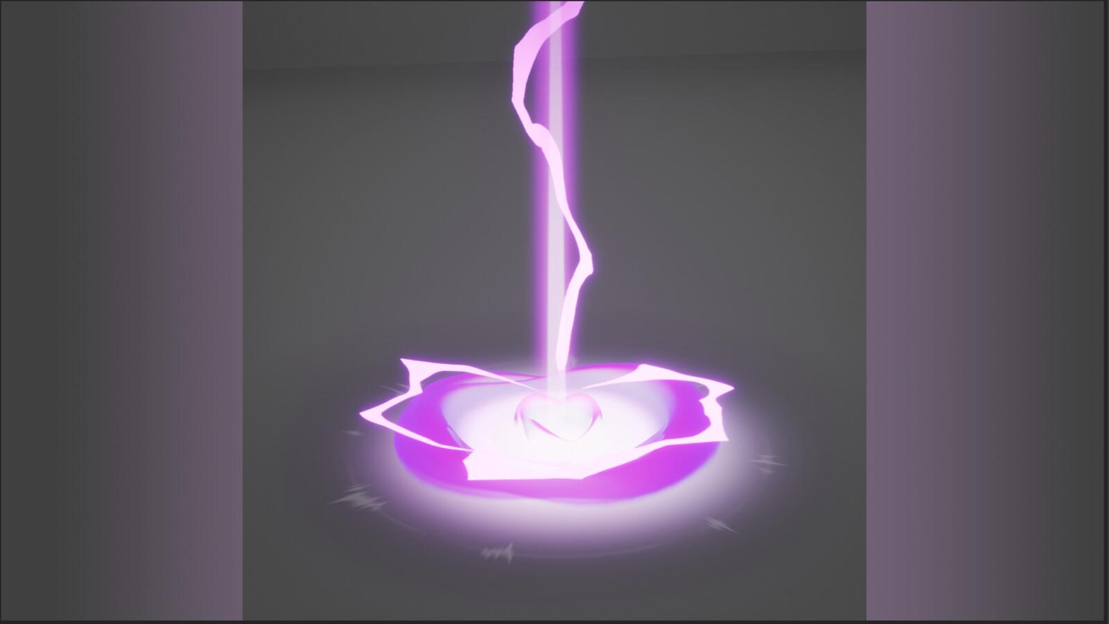Pink Lightning Blast VFX